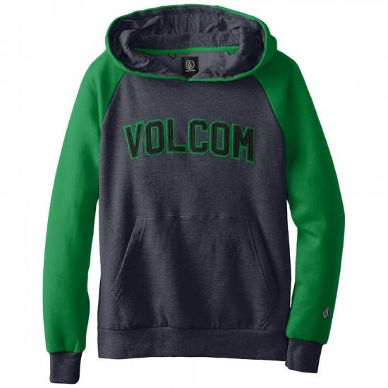 Volcom Big Youth Riker Athletic Pullover Hoodie - Navy