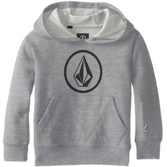 Volcom Big Youth Stone Pullover Hoodie - Heather Grey