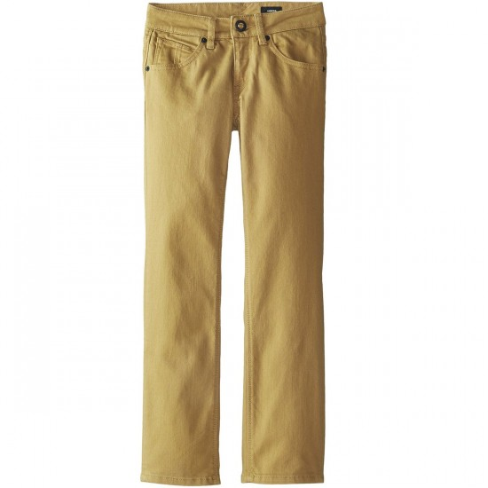 Volcom Big Youth Vorta 5-Pocket Twill Pants - Dark Khaki