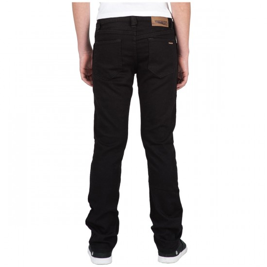 Volcom Big Youth Vorta Form Denim Pants - Black On Black