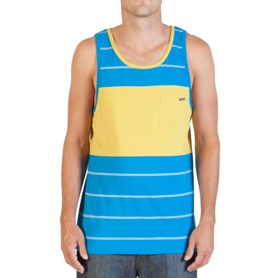 Volcom Black Out Stripe Tank - Atlantic