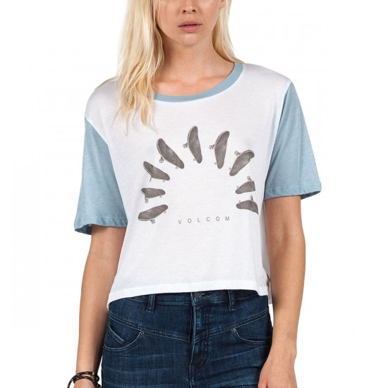 Volcom Block It T-Shirt - Washed Blue