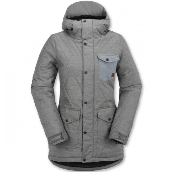 Volcom Bridge Insulated Snowboard Jacket - Heather Grey