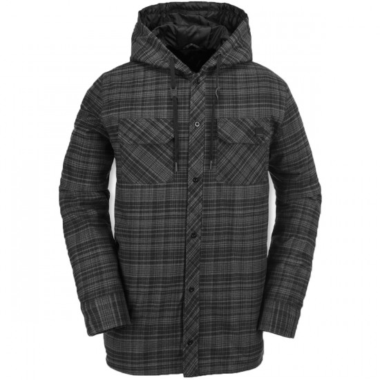 Volcom Burl Insulated Flannel Snowboard Jacket - Black