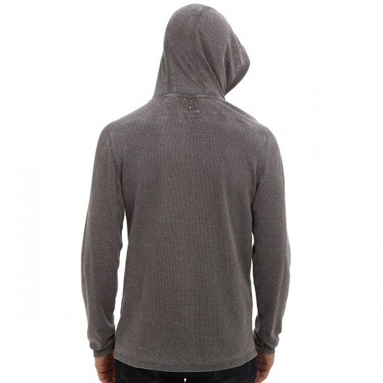 Volcom Burnt Burnout Longsleeve Thermal Shirt - Charcoal Heather