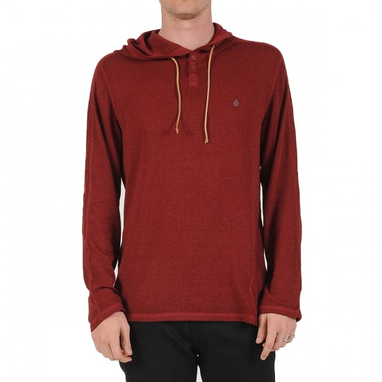 Volcom Burnt Burnout Longsleeve Thermal Shirt - Merlot