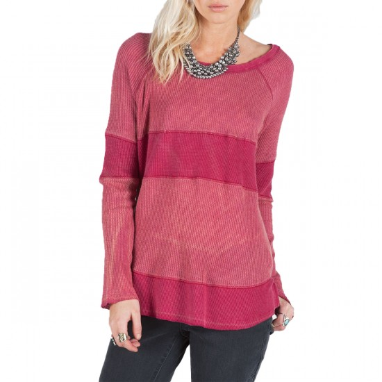 Volcom Chemical Reaction Knit Top - Maroon