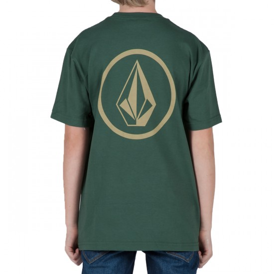 Volcom Circle Staple Youth T-Shirt - Jungle Green