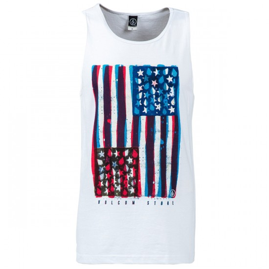 Volcom Colors Don't Bleed Tank Top - White