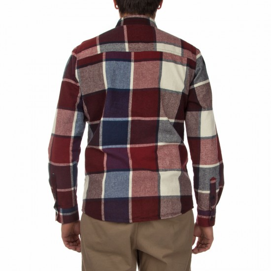 Volcom Dayton Long Sleeve Shirt - Cherry Wood