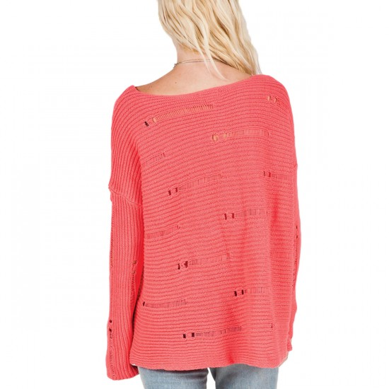 Volcom Easy Does It Sweater - Electric Coral
