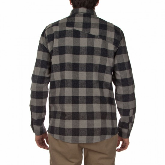 Volcom Echo Long Sleeve Shirt - Dark Grey