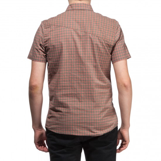 Volcom Everett Mini Check Short Sleeve Shirt - Army Green Combo