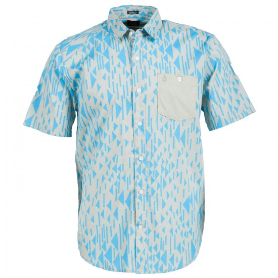 Volcom Everett Print Short Sleeve Shirt - Cement Grey