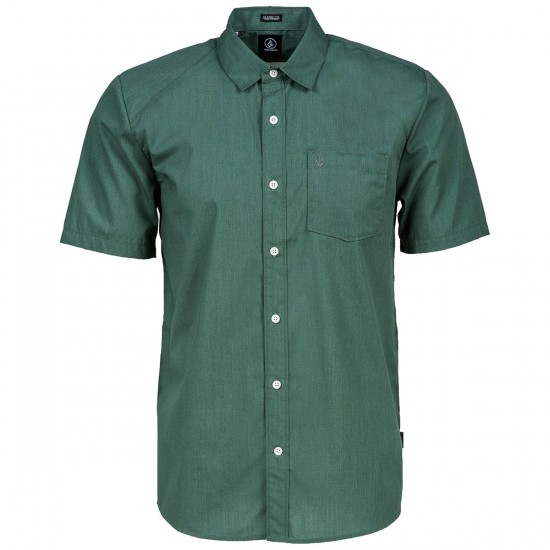 Volcom Everett Solid Short Sleeve Shirt - Forest