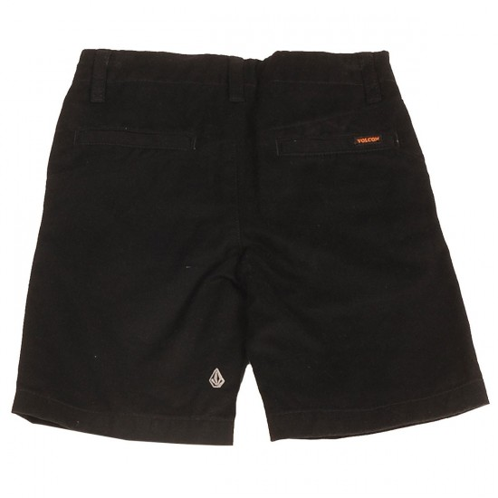 Volcom Faceted Youth Shorts - Black