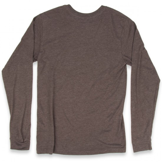 Volcom Fall Switch Long Sleeve Pocket T-Shirt - Bark Brown Heather