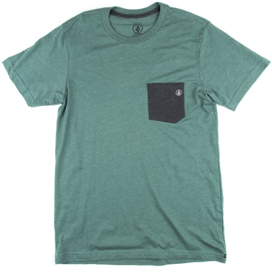 Volcom Fall Switch Pocket T-Shirt - Forest Heather