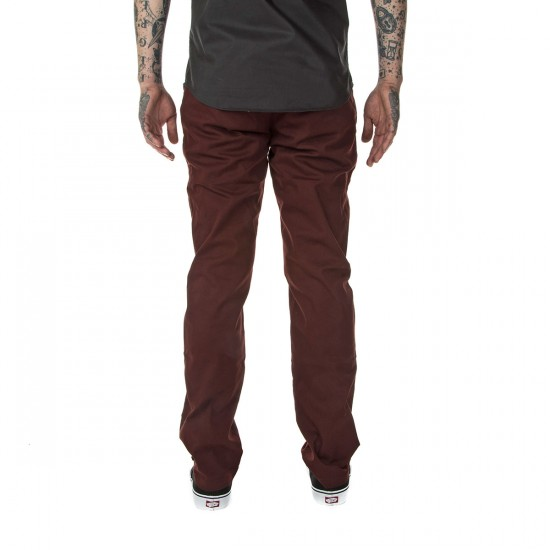 Volcom Frickin Modern Stretch Pants - Cherry Wood - 28 - 32
