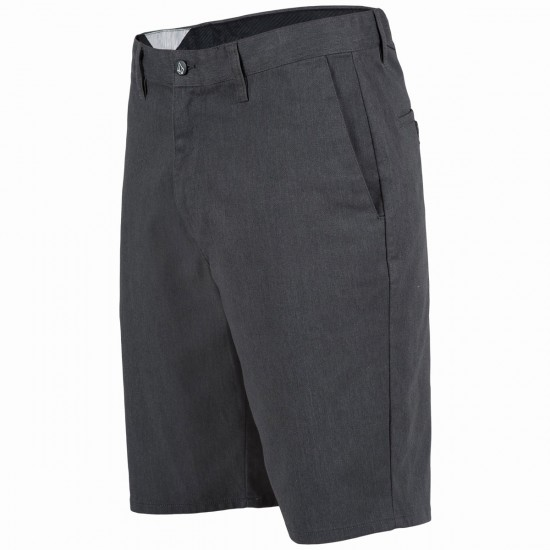 Volcom Frickin Modern Stretch Shorts - Charcoal