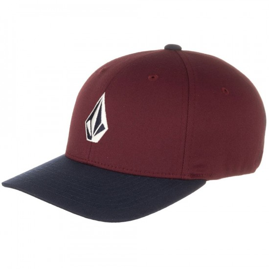 Volcom Full Stone Boys X Fit Hat - Cherry Wood