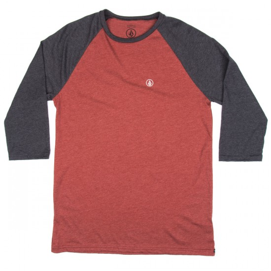 Volcom Heather 3/4 Raglan T-Shirt - Port
