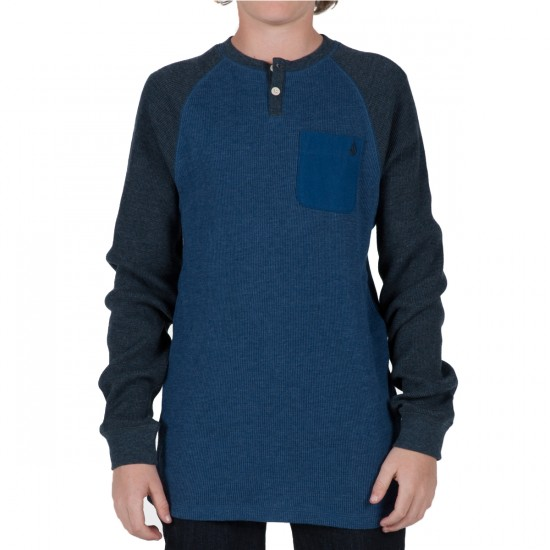 Volcom Henry Youth Thermal Shirt - Sea Navy