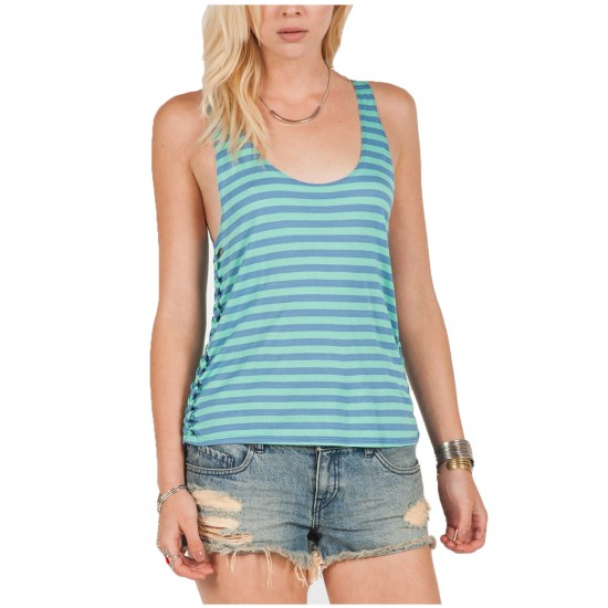 Volcom Into My Web Tank Top - Sandy Indigo