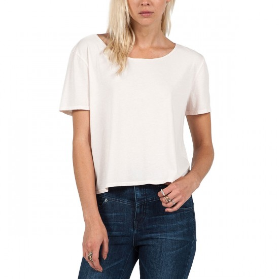 Volcom Lived In Overdye Crop T-Shirt - Cloud Pink