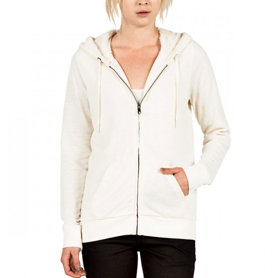 Volcom Lived In Sherpa Zip Hoodie - Frozen Bone