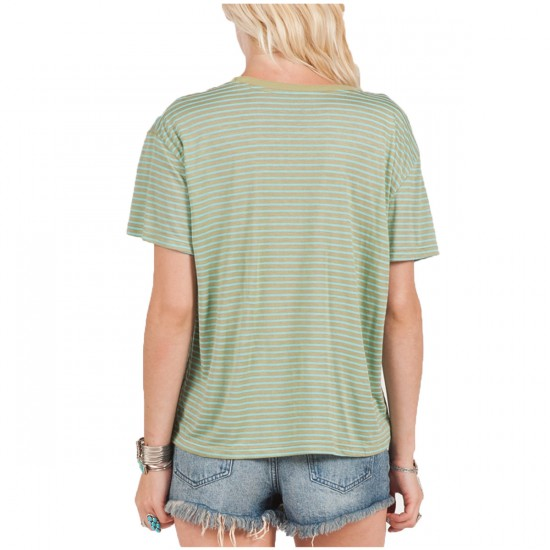 Volcom Lived In Stripe T-Shirt - Fern