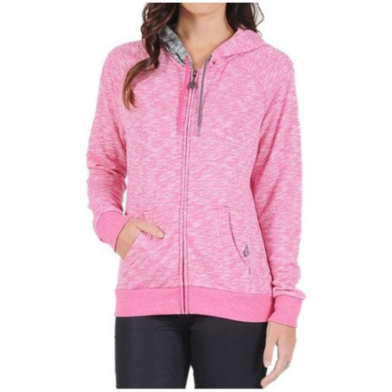 Volcom Lived In Zip Up Sweatshirt - Scream Magenta