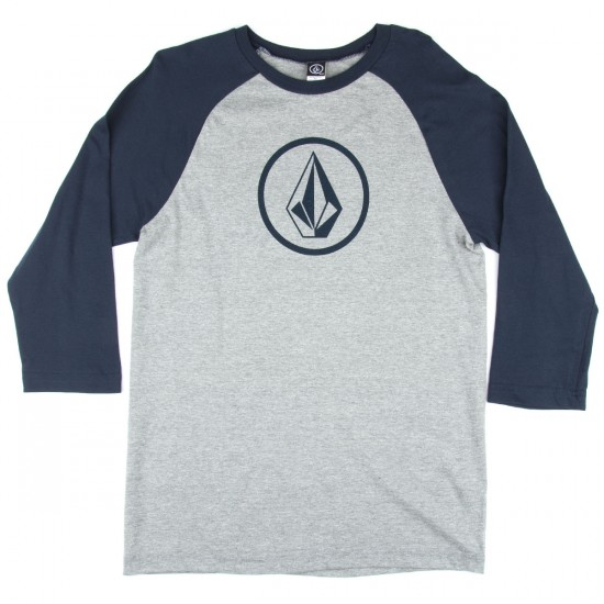 Volcom New Circle Raglan T-Shirt - Heather Grey