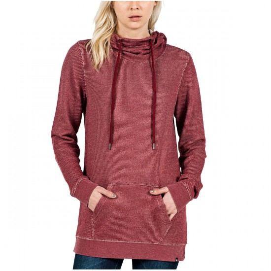 Volcom Oh Loop Womens Pullover Hoodie - Bark Brown