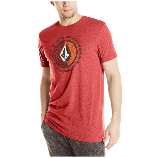 Volcom Overload Short Sleeve T-Shirt - Drip Red Heather