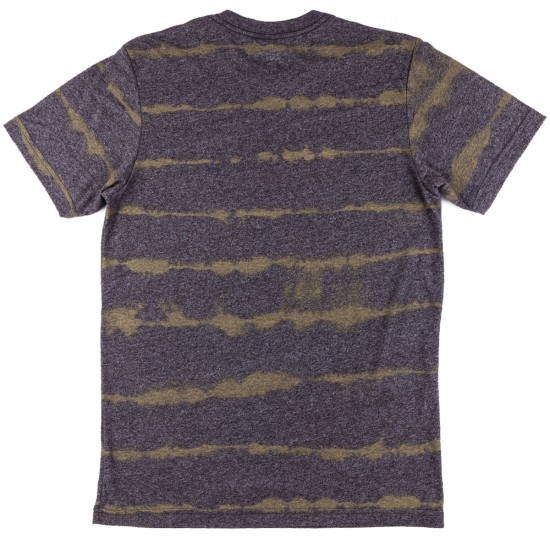 Volcom Pineapple Stripe T-Shirt - Charcoal Heather
