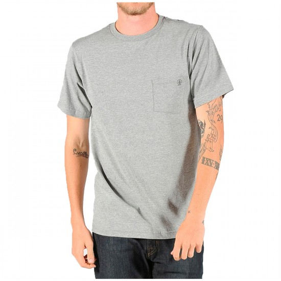 Volcom Pocket Staple T-Shirt - Heather Grey