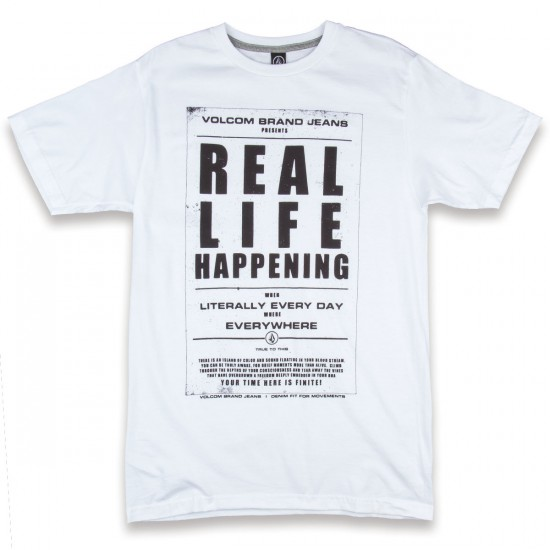 Volcom Real Life T-Shirt - White