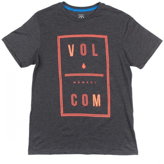 Volcom Saturday T-Shirt - Heather Black