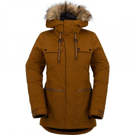 Volcom Shadow Womens Insulated Snowboard Jacket - Copper