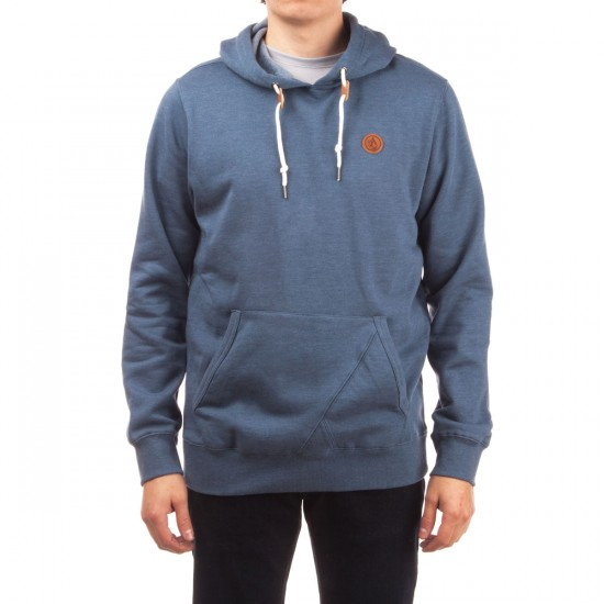 Volcom Single Stone Pullover Hoodie - Grey Blue