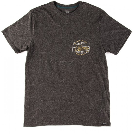 Volcom Smoovie T-Shirt - Heather Black