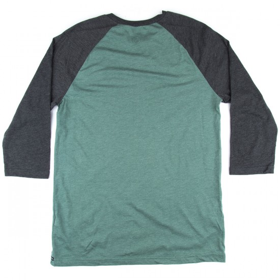 Volcom Solid Heather 3/4 Sleeve Raglan T-Shirt - Forest