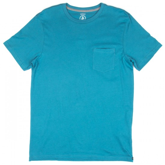 Volcom Solid Pocket T-Shirt - Stormy Blue