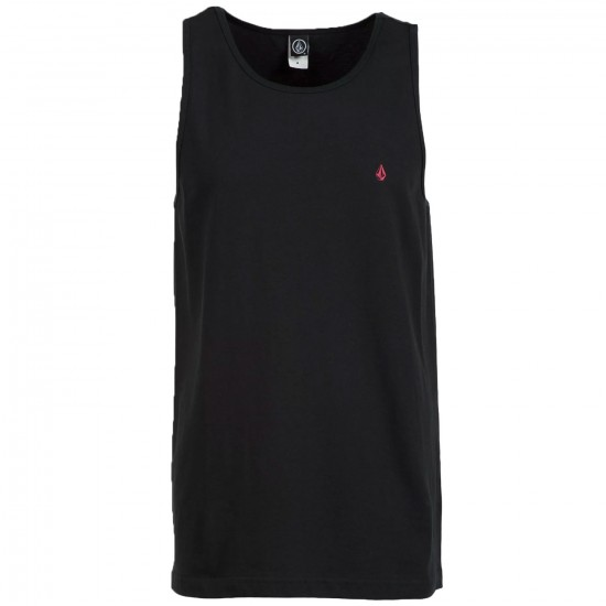 Volcom Solid Staple Tank Top - Black