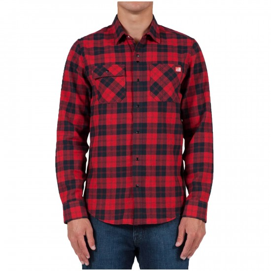 Spitfire X Volcom Long Sleeve Shirt - Drip Red