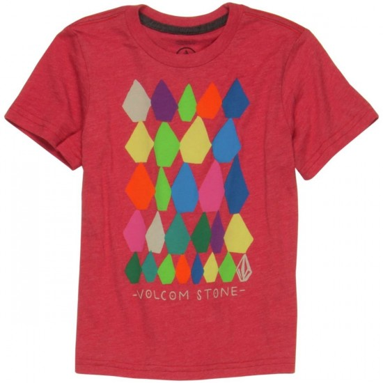 Volcom Stone Stacks Toddler/Youth T-Shirt - Drip Red