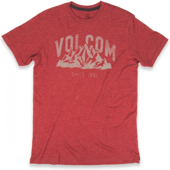 Volcom Stonith Short Sleeve T-Shirt - Crimson