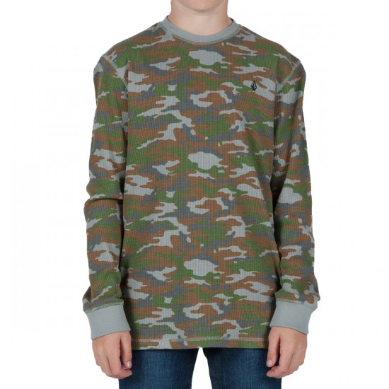 Volcom Street Side Youth Thermal Shirt - Camouflage