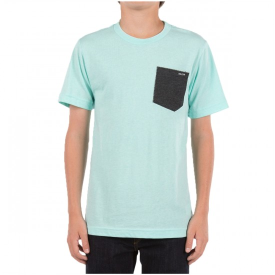 Volcom Summer Switch Youth Pocket T-Shirt - Arctic Blue
